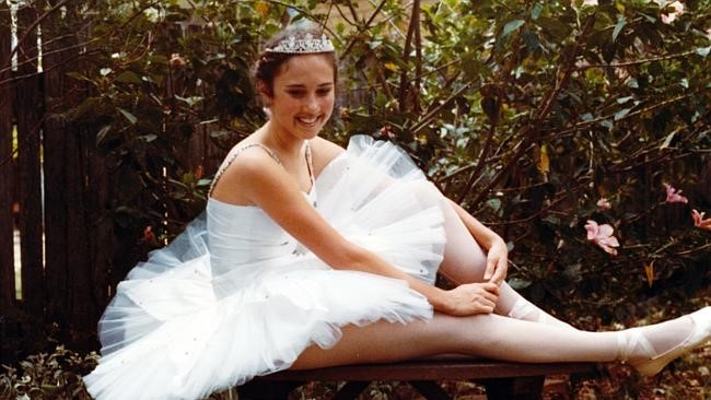 TV newsreader Chris Bath when she was a young girl as a dancer