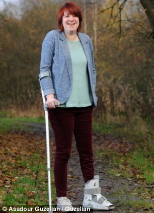 Jules Wakeham, 31, is to marry her partner Deane after having surgery to allow her to walk without a crutch or insoles